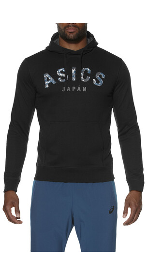 asics Camou Logo Hoodie Men Performance Black